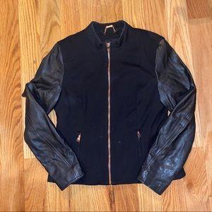 Ted Baker Leather Sleeve Jacket